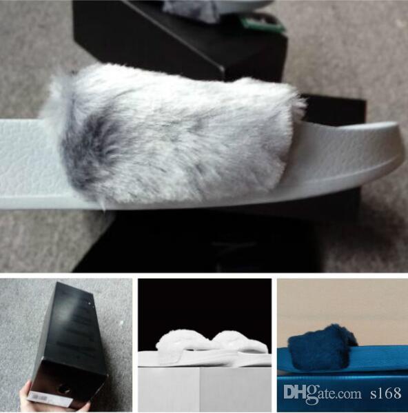219125b2feb 2018 RIHANNA FUR LEADCAT FENTY SLIDES WOMEN Men SLIPPERS House Winter  Slipper Home Shoes Woman Warm Slippers Chinelos Bag RIHANNA FENTY Slipper  Online with ...