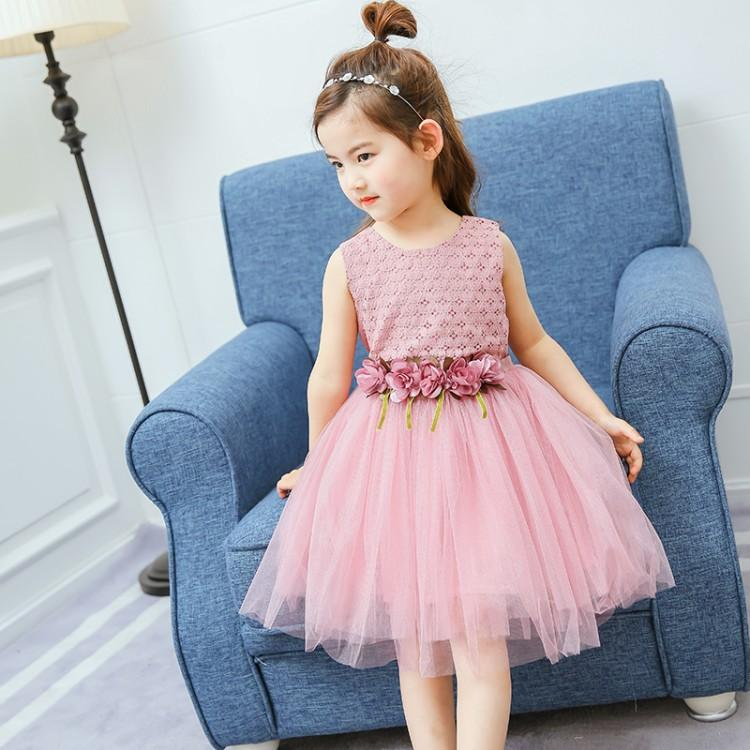 2018 Everweekend Girls Tulle Party Dress Flower Waist Ruffles ...