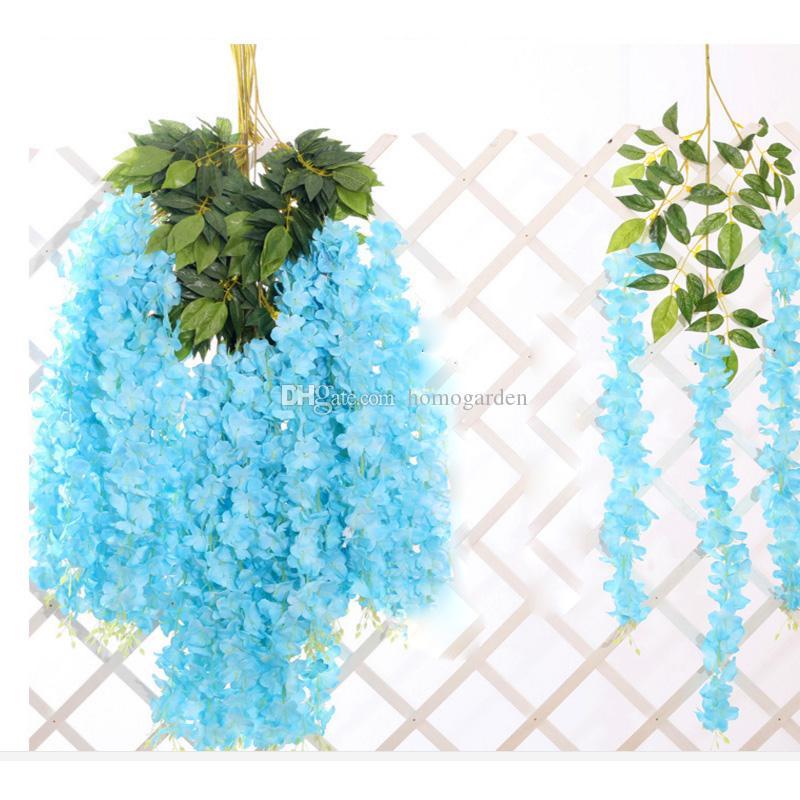Yapay Çelenk İpek Ortanca Düğün Çiçekleri Yüksek Yoğunluklu Çiçek Taç Dize Düğün Süslemeleri Parti Malzemeleri Karışık Renk Toptan