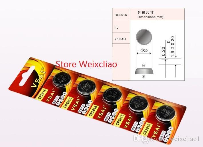 1 CR2016 3V lithium pile au lithium ion bouton pile CR 2016 3 Volt li-ion batteries VSAI Livraison Gratuite