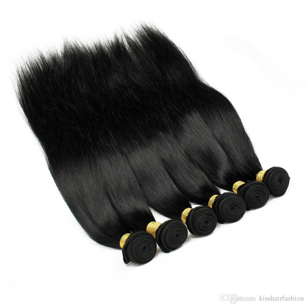 1 kg Toptan Brezilyalı Düz Bakire Saç Düz Vücut Dalga Derin Su Jerry Kıvırcık Afro Kinky Düz İnsan Saç Dokuma Paket 8-28 inç