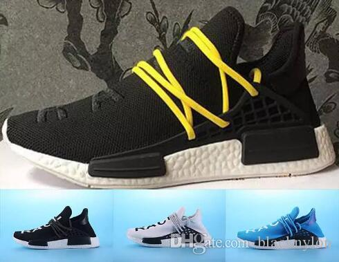 ed94a2d6034ee 2017 Pharrell Williams NMD HUMAN RACE In Yellow Red Black Blue Grey Green  White Men Women Classic Sport Sneakers Running Shoes Eur 36 45 Waterproof  Running ...