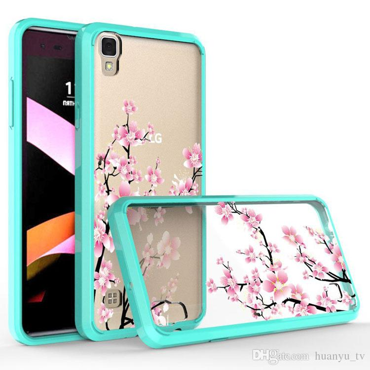 on sale ca083 fd7a8 Painting Customized Cases For Coolpad Defiant 3632/Alcatel Fierce 4 /MOTO  G5 plus TPU Acrylic Transparent Frame Shockproof hard Cas