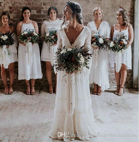 Discount gwendolyn bohemian wedding dresses v neck lace vintage discount gwendolyn bohemian wedding dresses v neck lace vintage summer bridal wedding dress france charming hot gelinlik vestido de noiva affordable wedding junglespirit