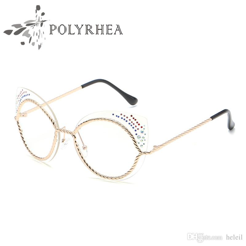 2018 2018 Cat Eye Glasses Metal Frame In Men Women Club Optical ...