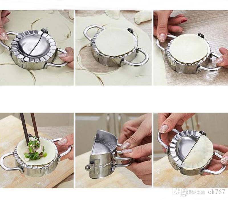 Prensa de masa Dumpling Mold Acero inoxidable 304 Fast Making Dumplings Herramientas de cocina Safe Food Mold Making Machine Cocción
