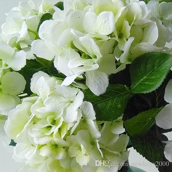 Grosshandel 24 Tall Kunstliche Hortensie Blume In Weiss Grun Hat 7