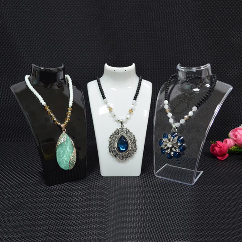 الشحن مجانا سعر السائبة الأزياء والمجوهرات عرض التمثال الاكريليك تخزين مربع المعرضة حامل المجوهرات ل حلق قلادة معلقة حامل حامل