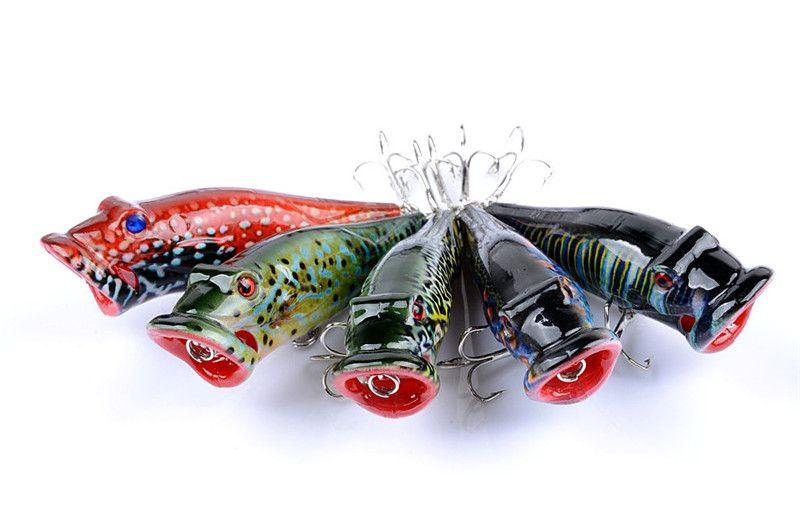 2018 Sığ Dalış Popper Krank yem 8 cm 12.5g Tatlısu Balıkçılık plastik lures bas poper cazibesi