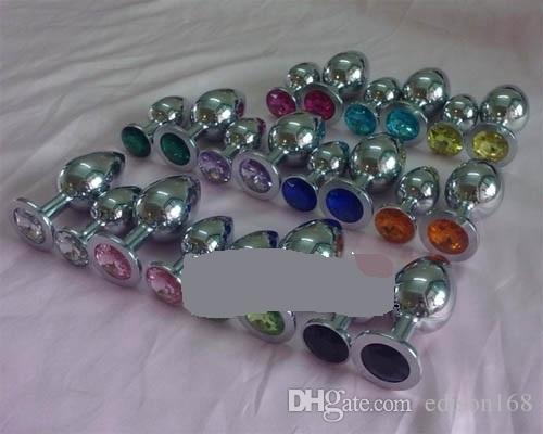 Large Size 4.0 cm Unisex Anale Plug in acciaio inossidabile con gioielli in cristallo Butt Booty Perline Ano Dilatatore Bondage adulto BDSM Sex Toy Product