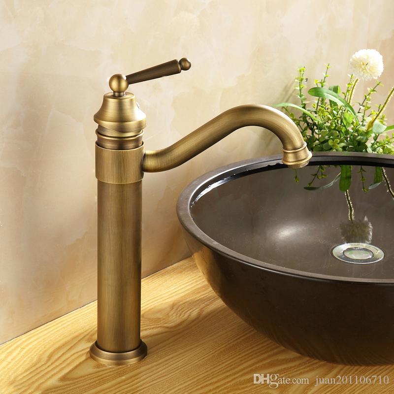 2017 European Style Antique Brass Body Wash Basin Faucet Deck ...