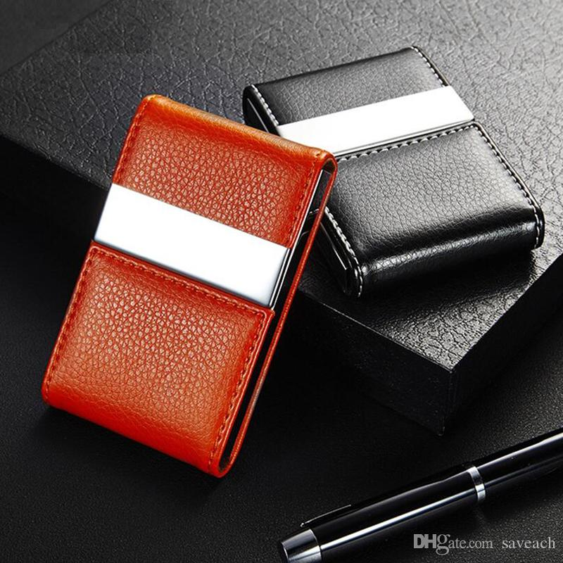 Business credit card holder for women men fashion id cardholder business credit card holder for women men fashion id cardholder wallet metal pu leather name card holder organizer business name card holder credit card colourmoves