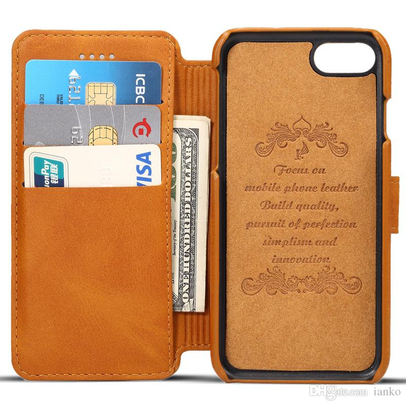 timeless design 5cb40 2f6b2 High Quality SUTENI Leather Wallet Case For Iphone Xr Xs Max Flip Stand  Leather Cover with Card Slot Pocket For iPhone X-8-7-6/Plus