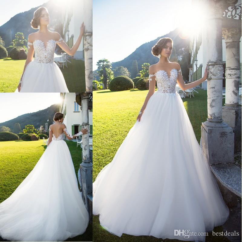 Simple Elegant Country Style Wedding Dresses With Lace: Milla Nova 2017 Simple Elegant Country Style Wedding