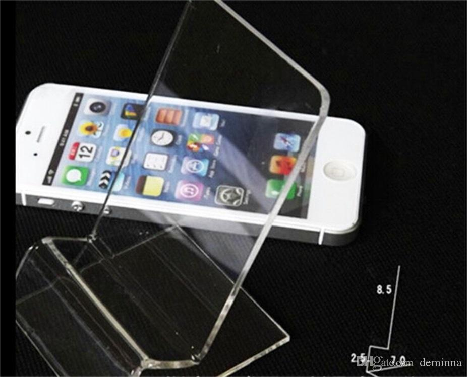 DHL fast delivery Acrylic Cell phone mobile phone Display Stands Holder stand for 6inch iphone samsung HTC
