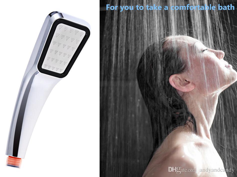 Badezimmer Duschkopf 30% Wasserspar Druck Boost Regenfall 300 Löcher Badezimmer Zubehör Chrom ABS Galvanisieren Exposed Duschkopf