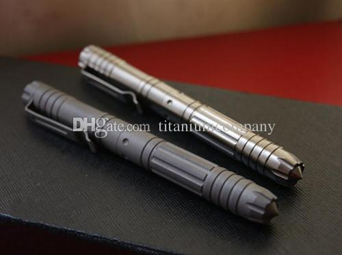 Il titanio TC4 EDC 138 millimetri lungo Tactical Self Defense Gel Roller Penna superficie lucida / opaca di finitura l'opzione di alta qualità