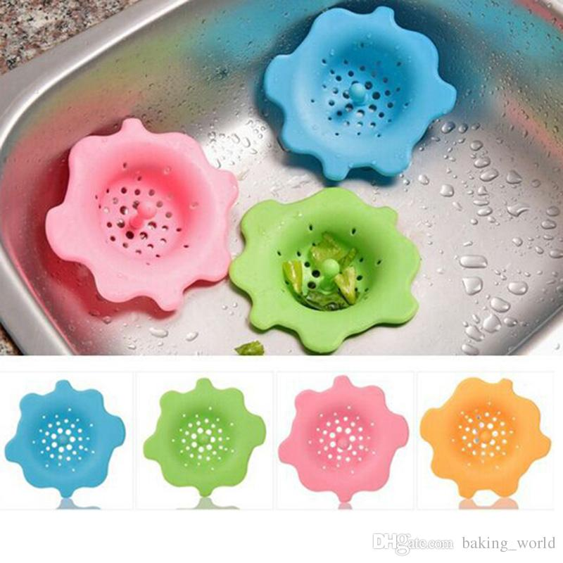 Creative Candy Flower Shape Sink Water Filter Strainer Hair Catcher ...