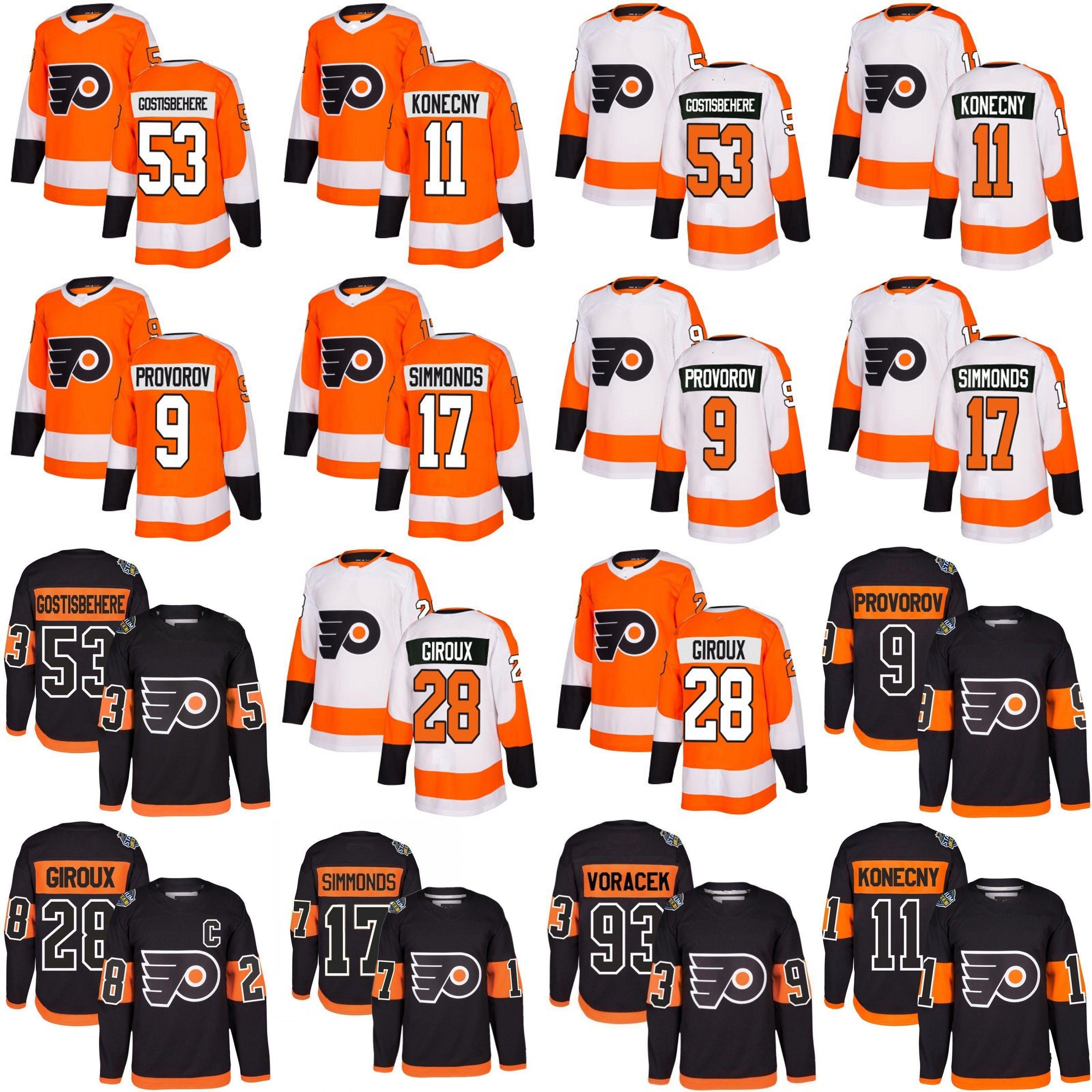 2018 Men Philadelphia Flyers 53 Shayne Gostisbehere 17 Wayne ... 62cfc85c9