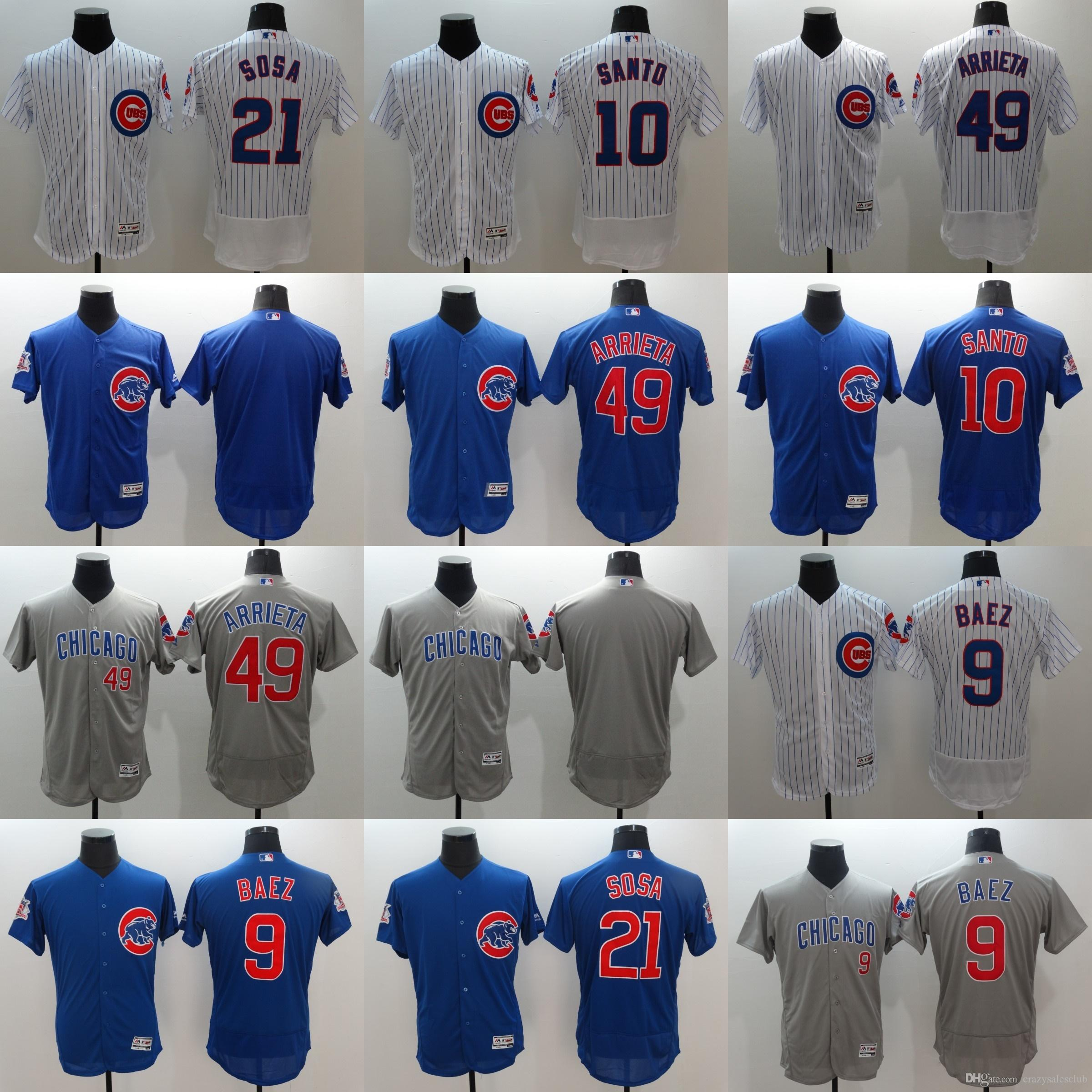 wholesale dealer 22394 6dc1c Baez 21 Chicago 10 Cubs 49 Sosa Arrieta Béisbol Sammy Jake ...