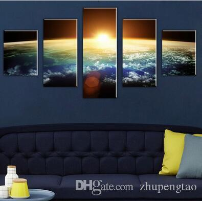 Without Framed Large HD Space view Scape Canvas Print Painting for Living Room Wall Art Picture Gift