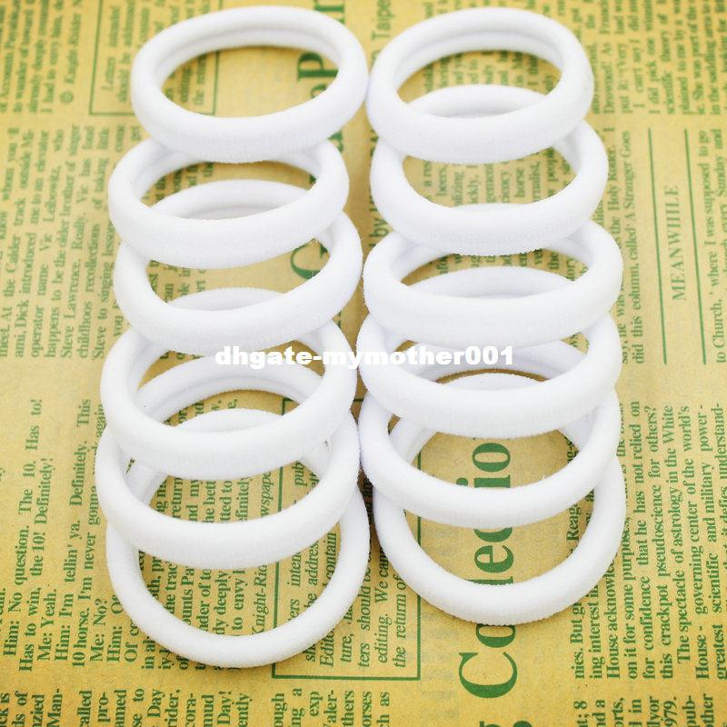 2019 2015 New  Bag 40mm Pure White Hair Holders Rubber Bands Elastics Girl  Women Tie Gum Fashion From Mymother001 f46067f7dd1