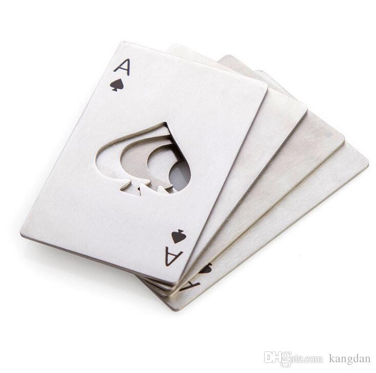 Poker carta da gioco tappo della bottiglia di birra apri strumenti da cucina portatile all'aperto apri regalo di birra soda forma di cuore