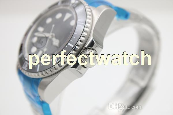 New Black Stainless Dial Silver Stainless Belt Mens Black Irab Stainless Bezel Watch Men's Sports Wrist Sapphire Original clasp