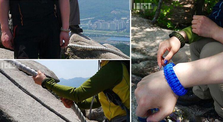 Outdoor Camping Hiking Survival Bracelet Self-rescue Paracord Parachute Cord Bracelets Survival bracelet Camping Travel Free DHL Fedex TNT