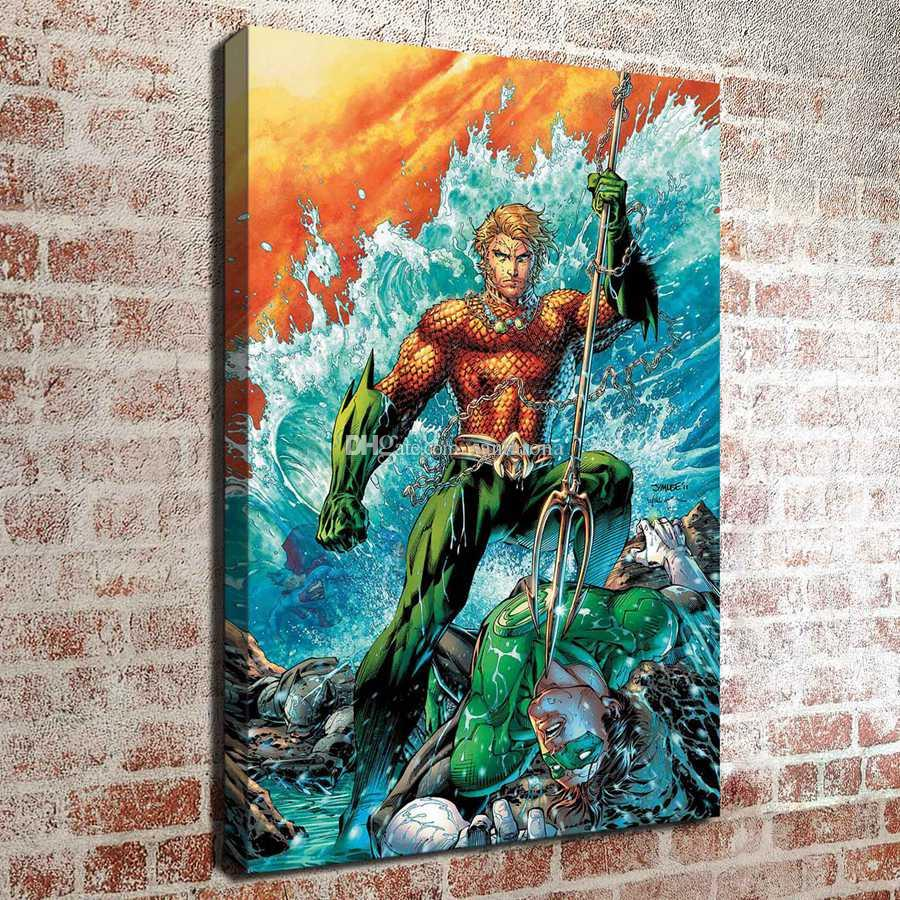 No Frame The Green Lantern War HD Canvas Print Wall Art Oil Painting ...