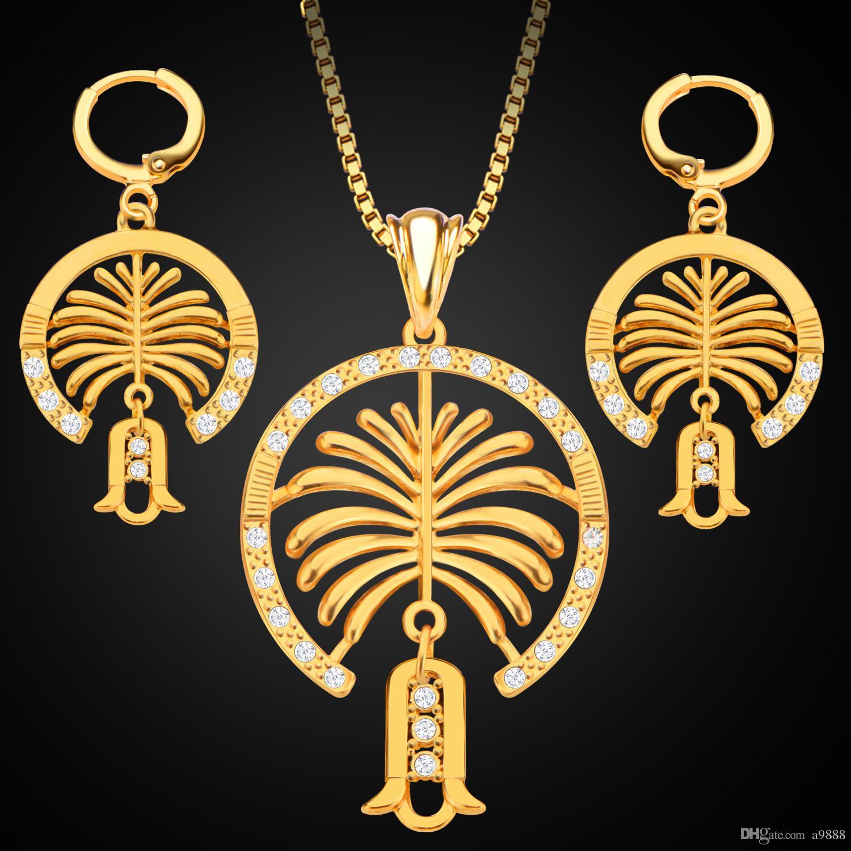 Diamond Rings Sale Dubai: 2019 New Middle East Jewelry 18K Gold Jewelery Set Dubai