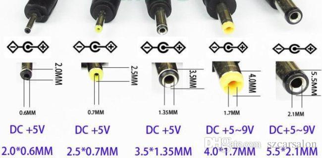 USB 2.0 para DC 2,5 milímetros 4,0 milímetros cabo de carregamento DC jack 1m 3FT poder carregador