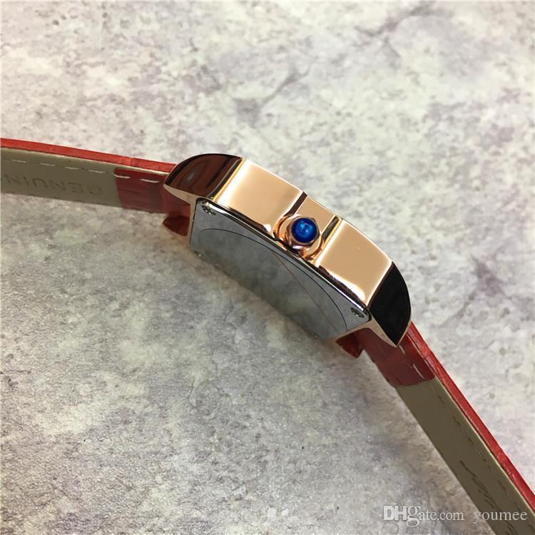 Новая модель Леди наручные часы платье часы женские часы квадратный циферблат лицо Япония движение нескольких цветов высокое качество оптовая цена бесплатная доставка