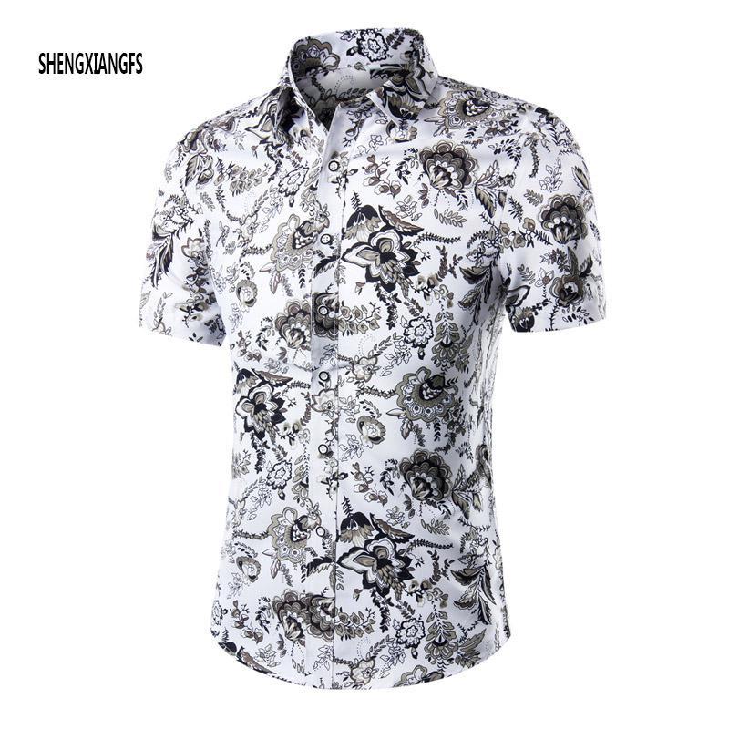 2018 Wholesale Summer Shirt Men Short Sleeve Male Beach Hawaiian ...