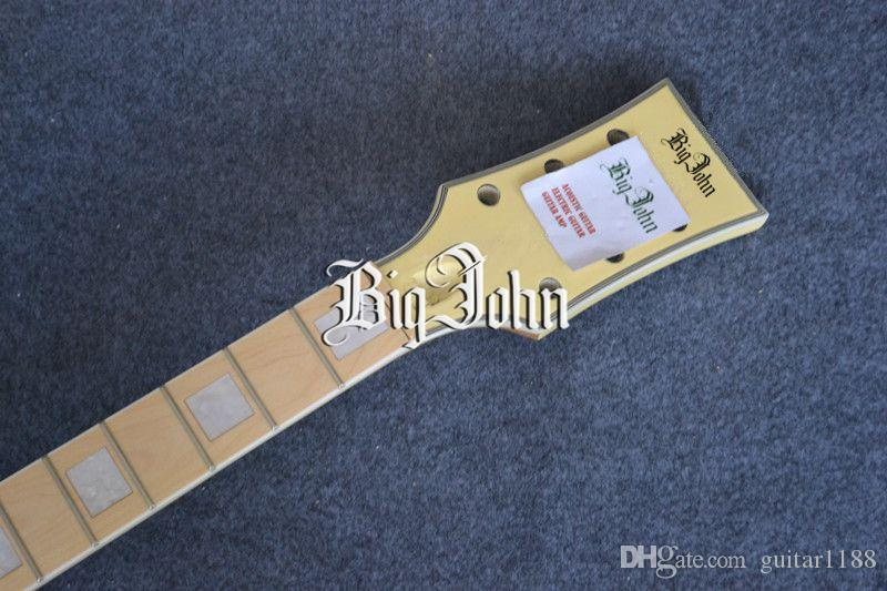 new electric guitar in yellow without hardware diy guitar+foam box F-3017
