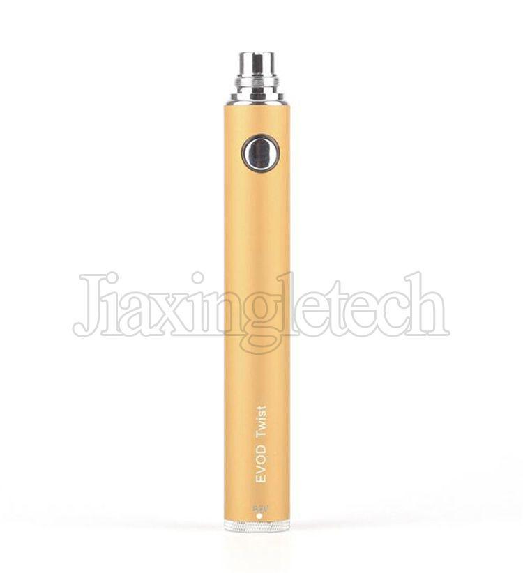 EVOD Twist Battery Electronic Cigarette Ego C Variable Voltage 650 900 1100mah For EVOD MT3 CE4 Atomizer 510 Thread Atomizer Kit E cigarette
