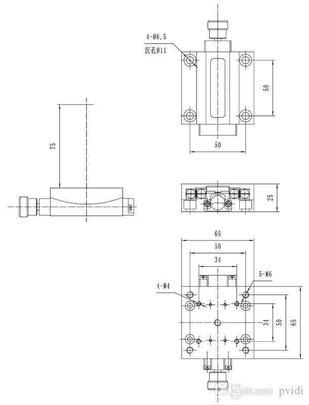 PT-SD302 Precise Manual Goniometer Stage, Dovetail Platform, Optical Sliding Table, Rotation Range: +/-10 degree