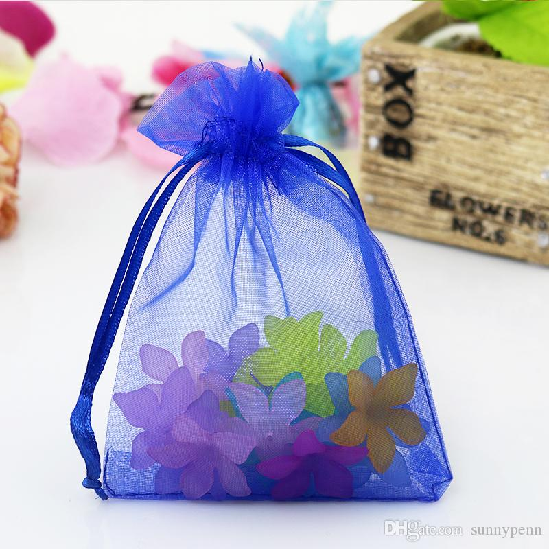 Großhandel 100 Stück Royal Blue Organza Schmuck Geschenk Tasche ...