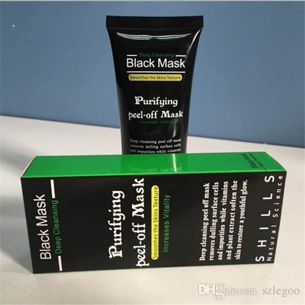 Meilleur SHILLS Masque Peel-off Purifiant Shills Nettoyage en profondeur Black Shills Masque pour le visage Nettoyant pores 50ml Masque pour le visage comédons