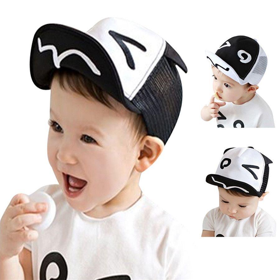 e29c6f9414a Spring Summer White And Black Baby Baseball Hat Baby Hats Baseball ...