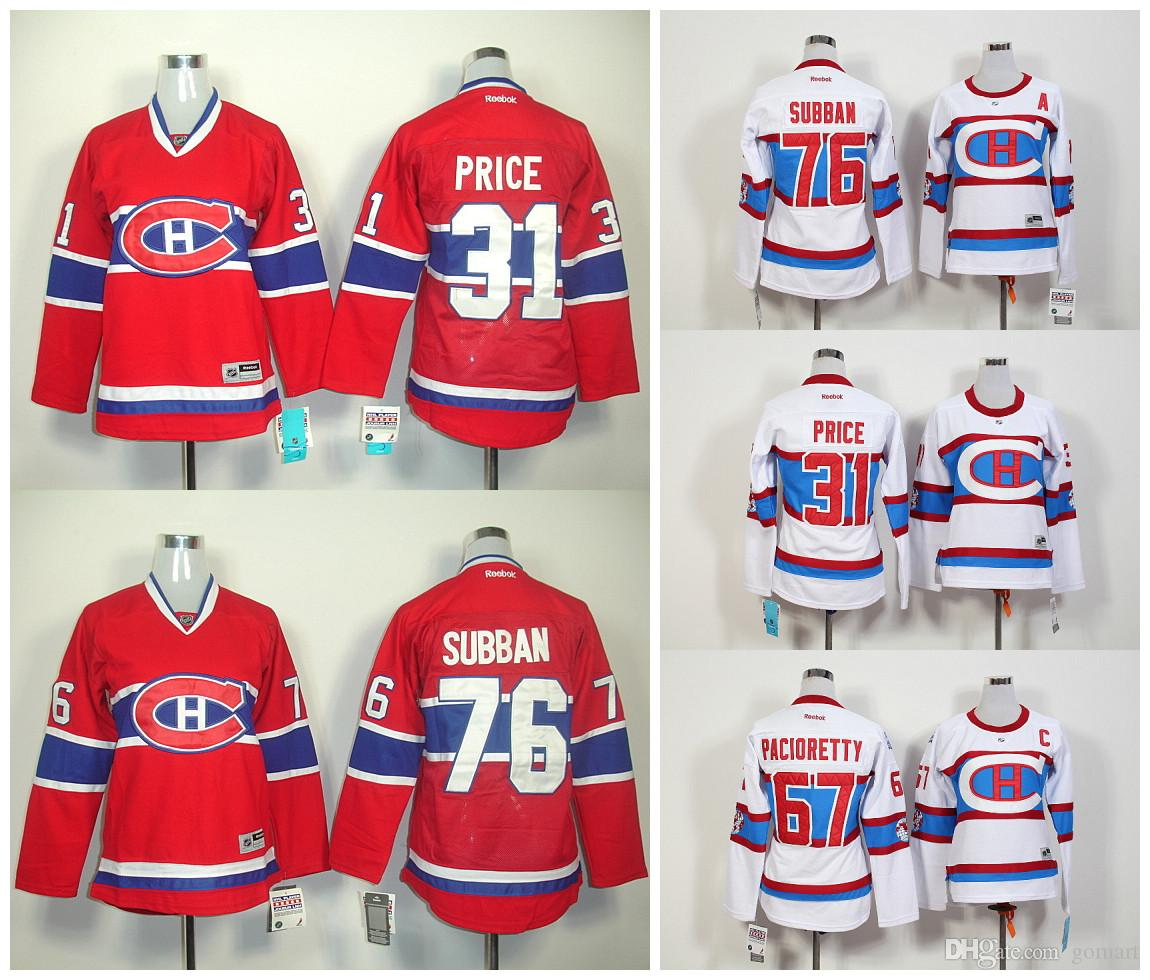 4d57cf977 Montreal Canadiens Jerseys Women Ice Hockey Winter Classic 31 Carey Price  67 Max Canadiens 67 Max Pacioretty White 2016 Winter Classic Stitched NHL  Jersey