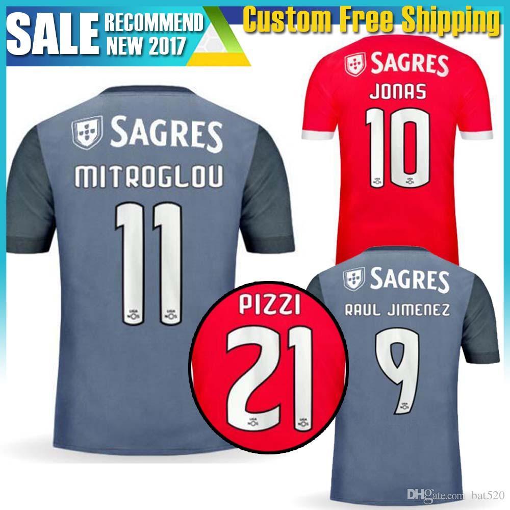 b7e4c36cf 2017 2017 2018 New Season Benfica Soccer Jersey Home Red Away Gray