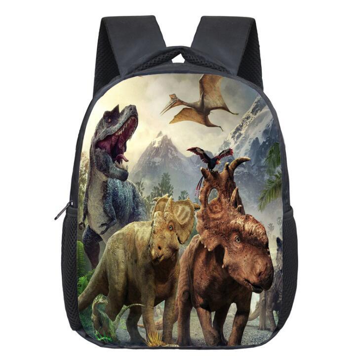 12 inç Anaokulu Çocuk Okul Çantaları 3D Hayvan Dinozor Sırt Çantaları Çocuk Boys Karikatür Omuz Çantaları Açık Seyahat Çantası