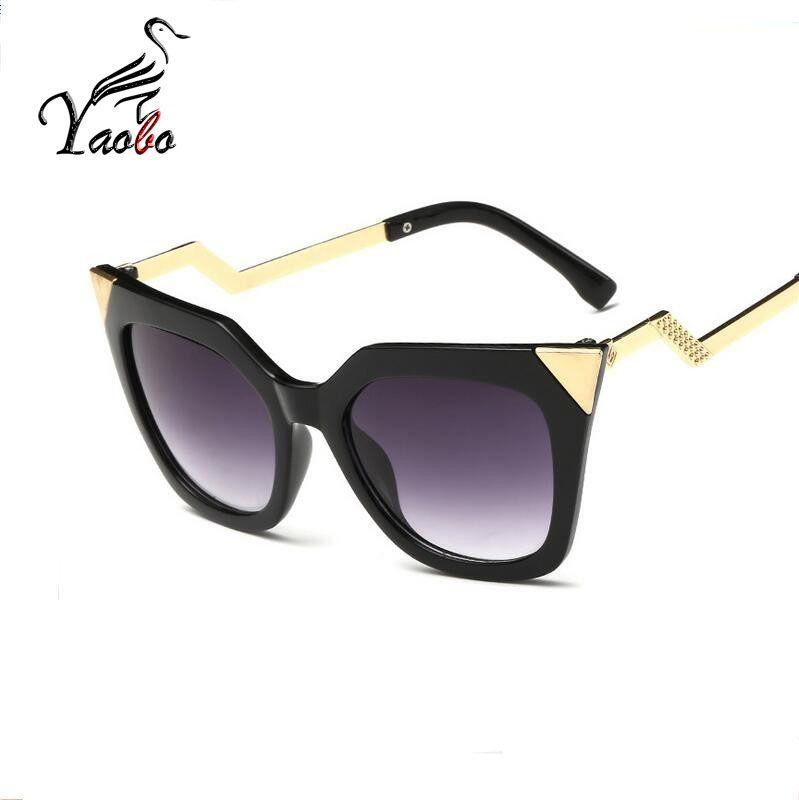 2204e1e48b Yaobo Cat Eye Sun Glasses for Women Brand Designer Sunglasses Oval ...