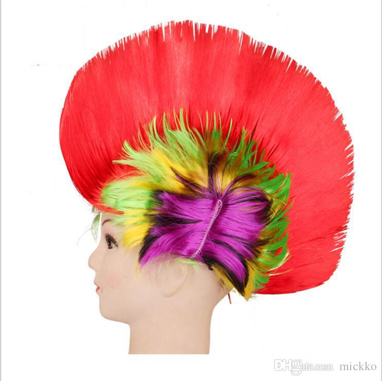 Cool Comb Color Wig Graduation Birthday Party Celebration Color Wig Tool Red Blue Pink Purple Color Wig Decoration