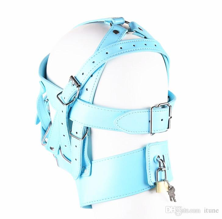 NUOVO Design copricapo in pelle con copricapo Zipper Bondage Maschere il sesso Maschere giochi di coppia SM