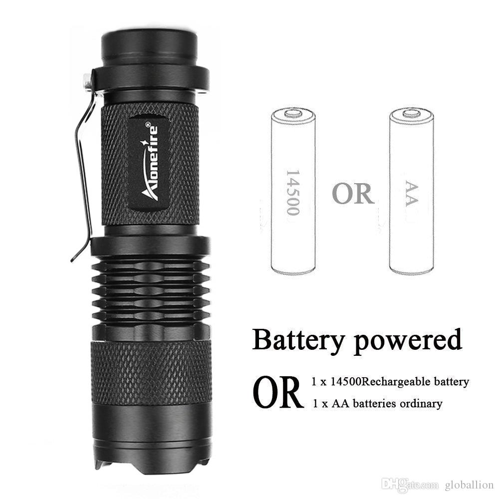 AloneFire SK68 mini Zoomable led flashlight Portable Bike light Bicycle light lamp flash light for Camping Biking