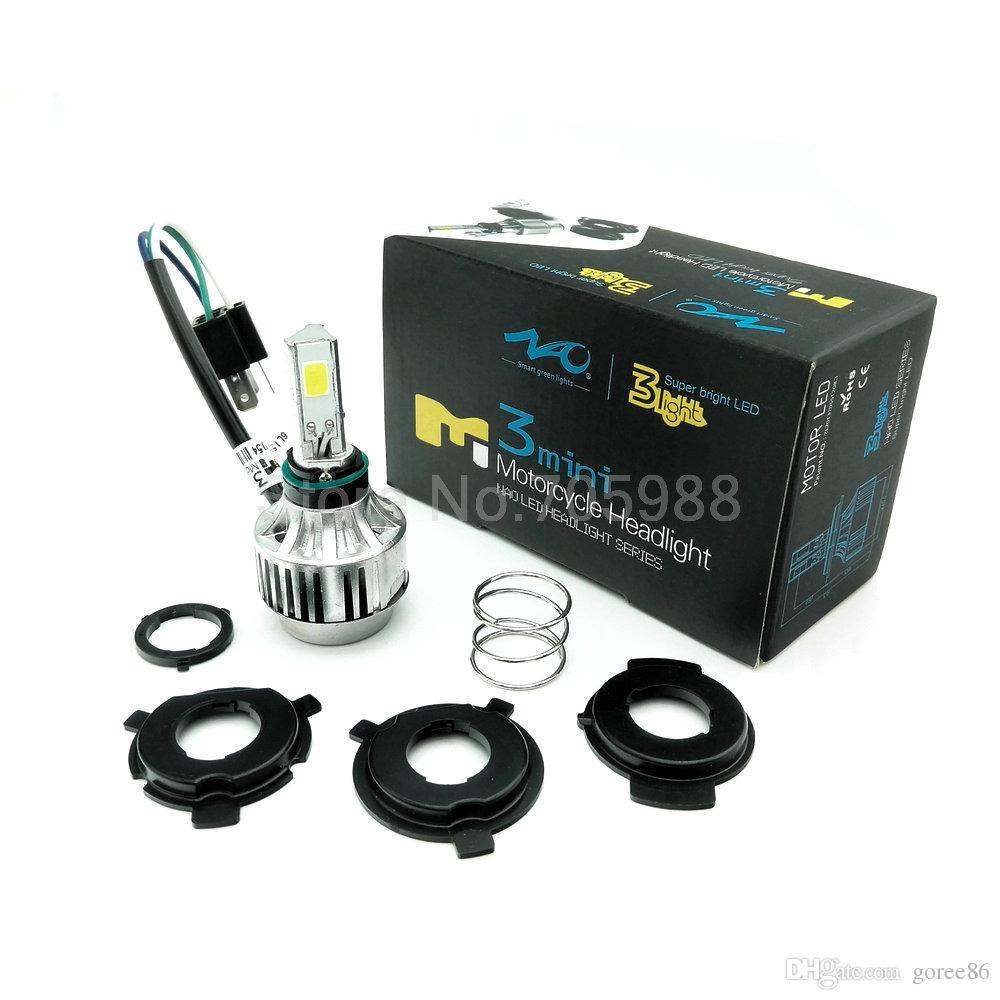 34W WHITE amber COB Motorcycle LED Headlight Motorbike headlamp LED Hi Low beam moto Conversion Kit H6 H4 BA20D kit led for honda suzuki