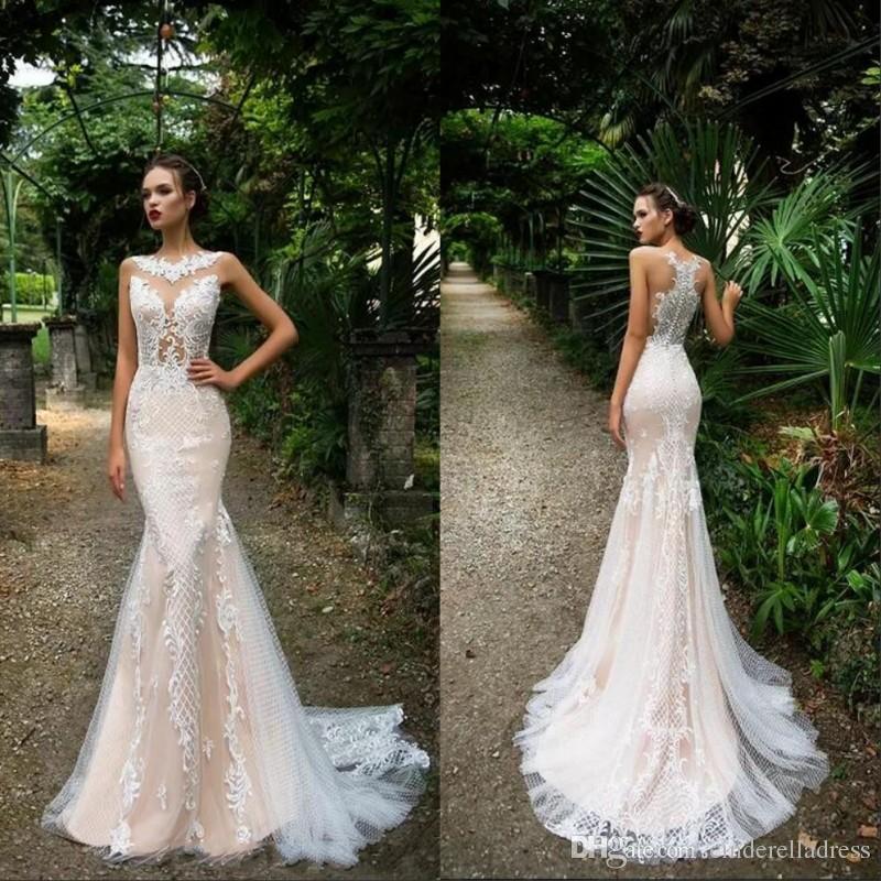 2019 Milla Nova New Arrival Lace Mermaid Wedding Dresses