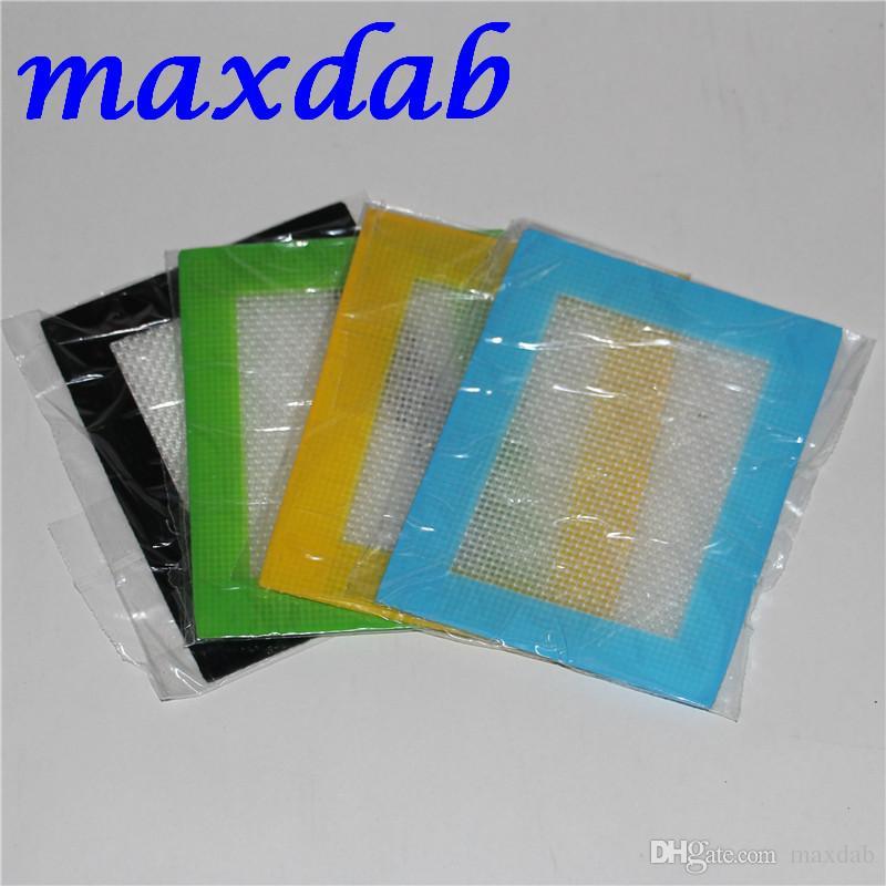 Les tapis de cire de silicone séchent les tapis d'herbe 14cm * 11.5cm ou 11cm * 8.5cm tapis de cuisson carrés feuilles de dabber de bocaux outil de tamponnage pour récipient en silicone DHL